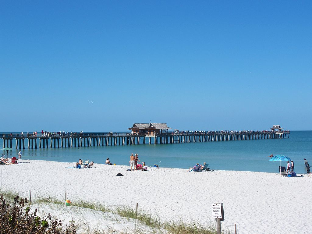 Naples Beach and Naples Pier